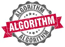 уплотнение алгоритма штемпель иллюстрация штока