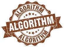 уплотнение алгоритма штемпель иллюстрация вектора