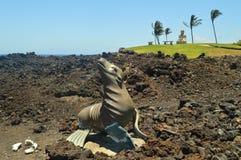 Уплотнение & Будда в Hawai Стоковое Изображение