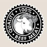 Уплотнение качества 100% мяса говядины иллюстрация вектора