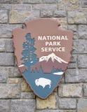 Уплотнение обслуживания национального парка стоковое фото