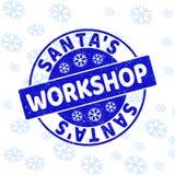 Уплотнение печати круга Grunge мастерской Санта на Новый Год бесплатная иллюстрация