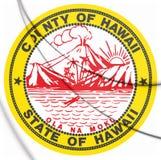уплотнение 3D Hawaii County, США иллюстрация штока