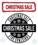 Уплотнения продажи рождества поцарапанные и чистые печати для рождества иллюстрация штока