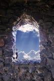 упование к окну Стоковая Фотография