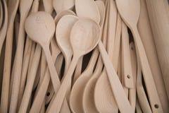 уполовники деревянные Стоковые Фотографии RF