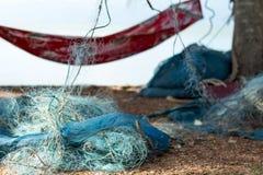 Упорка рыб находки сети рыболова и задвижка crab Стоковое Фото