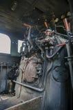 Управление винтажного локомотива пара Стоковая Фотография RF