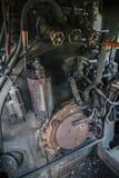 Управление винтажного локомотива пара Стоковые Фотографии RF