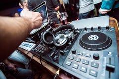 Управление смесителя DJ Стоковые Изображения