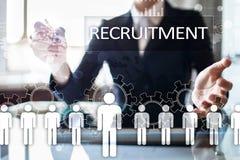 Управление человеческих ресурсов, HR, рекрутство, руководство и teambuilding Концепция дела и технологии стоковые изображения rf