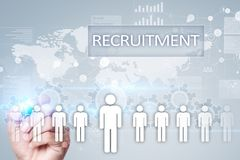 Управление человеческих ресурсов, HR, рекрутство, руководство и teambuilding Концепция дела и технологии стоковые фотографии rf