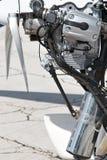 управляемый самолетом пропеллер двигателя стоковое изображение