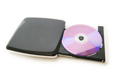 управляйте изолированным external dvd стоковые изображения
