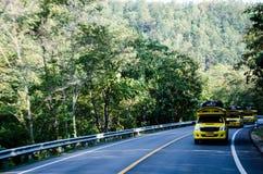 Управляйте на дороге к природе стоковые изображения rf