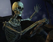 управляйте полуночным скелетом Стоковое Изображение