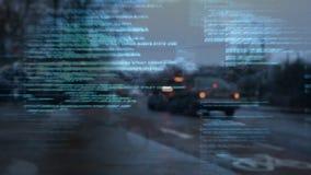 Управлять автомобилей на дороге города акции видеоматериалы