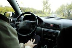 управлять автомобиля Стоковая Фотография