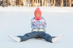 управлять зимой розвальней потехи skating стоковые изображения