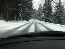 управлять зимой Стоковые Изображения RF