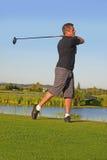 управлять игроком в гольф стоковые изображения rf