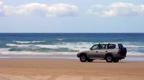 управлять пляжа Стоковая Фотография