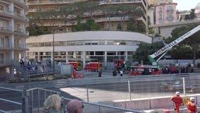 Управлять электрических автомобилей формулы e очень быстро на Монако E-Prix 2019 сток-видео