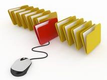 Управление базы данных или онлайн концепция архива Стоковая Фотография