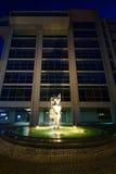 Словенский банк NKBM в Мариборе к ноча Стоковое фото RF