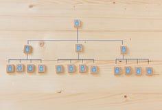 Управление и корпоративная иерархия человеческих ресурсов Стоковые Фотографии RF