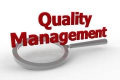 Управление - качество Стоковое Фото