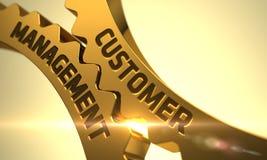 Управление клиента на золотых Cogwheels Стоковое Изображение RF