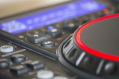 Управление на профессиональном mp3 плэйер Стоковое Изображение RF