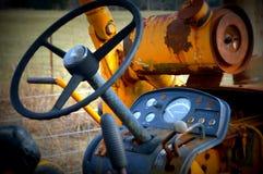 Управление рулем трактора Стоковое фото RF