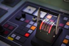 управление управления рулем в корабле топливозаправщика Стоковая Фотография