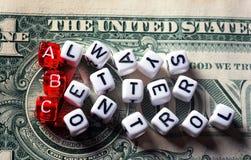 Управление ABC всегда лучшее на банкноте доллара Стоковое Фото