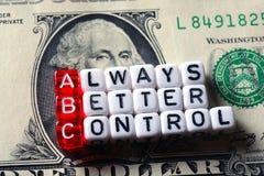 Управление ABC всегда лучшее на банкноте доллара Стоковая Фотография RF