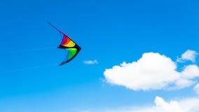 Управляемое похожее на крыл летание змея на небе Стоковые Фотографии RF