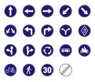 Управляемый значок знака уличного движения Стоковое Изображение