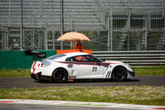 Управляйте технологией Италией Nissan GT-r Nismo на Монце Стоковое Изображение RF