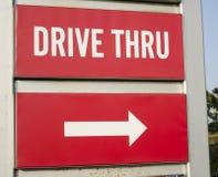 Управляйте через дорожный знак Стоковая Фотография RF