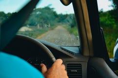 Управлять в автомобиле Стоковая Фотография