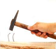 Управлять изогнутым ногтем Стоковое Фото