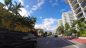 Управлять на бульваре Miami Beach Collins сток-видео