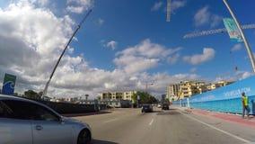 Управлять на бульваре Miami Beach Collins видеоматериал
