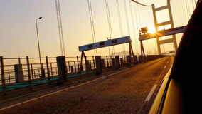 Управлять на мосте Стоковое фото RF