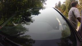 Управлять на дороге леса видеоматериал
