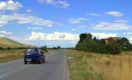 Управлять дороги лета стоковая фотография