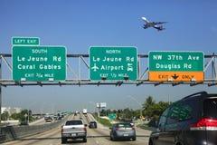 Управлять шоссе Майами Стоковые Фото