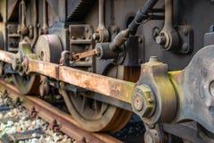 Управлять штангой старого локомотива пара Стоковые Изображения RF